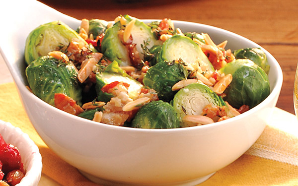 Brussels Sprouts with Bacon & Thyme