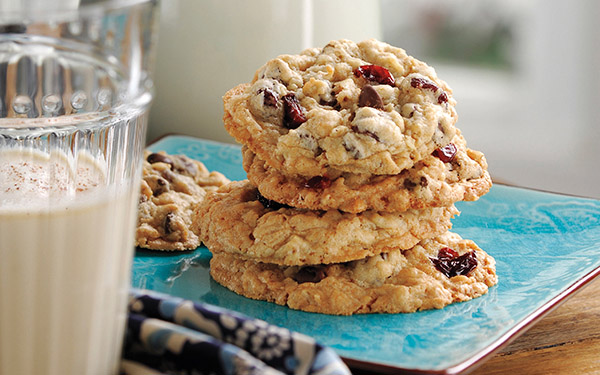 Chocolate Chip, Oatmeal & Dried Cherry Cookies