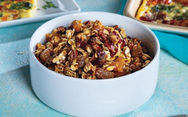 Cranberry-Orange & Pecan Skillet Granola