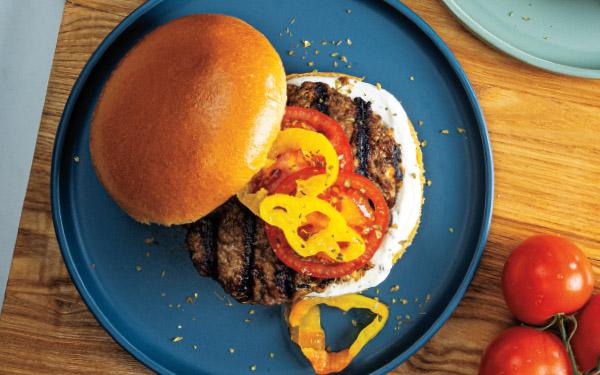 Feta-Stuffed Beef Burgers