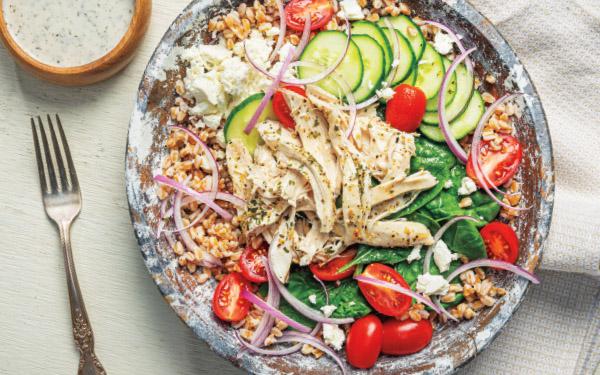Greek Chicken Gyro Bowl