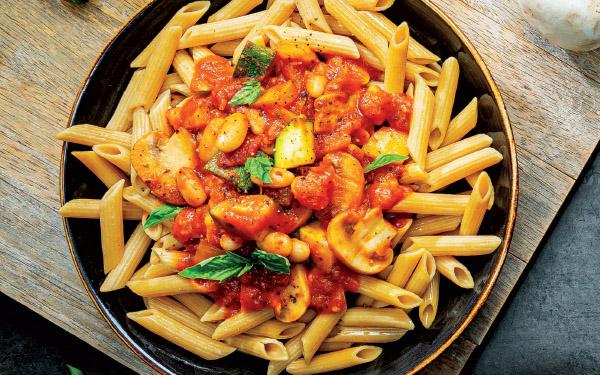Hearty Sautéed Veggie Pasta