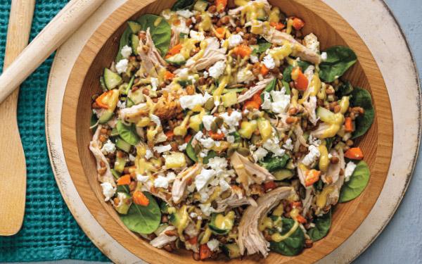 Lentil-Chicken Salad