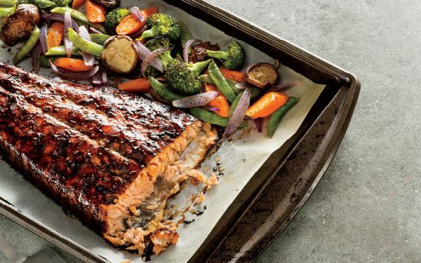 Roasted Asian-Glazed Salmon & Veggies
