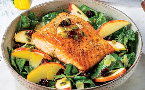 Skillet Salmon with Autumn Swiss Chard Salad