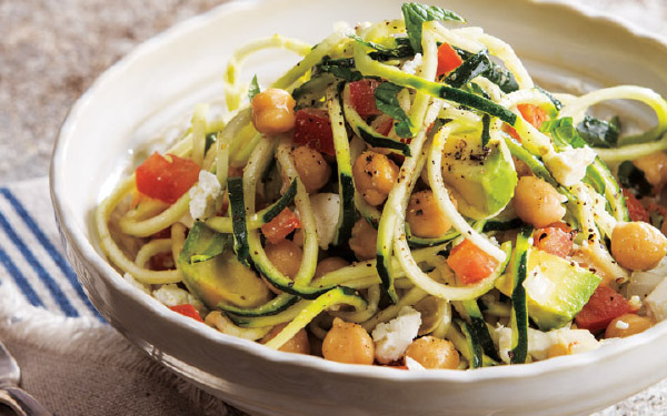 Zoodle, Chickpea & Avocado Salad
